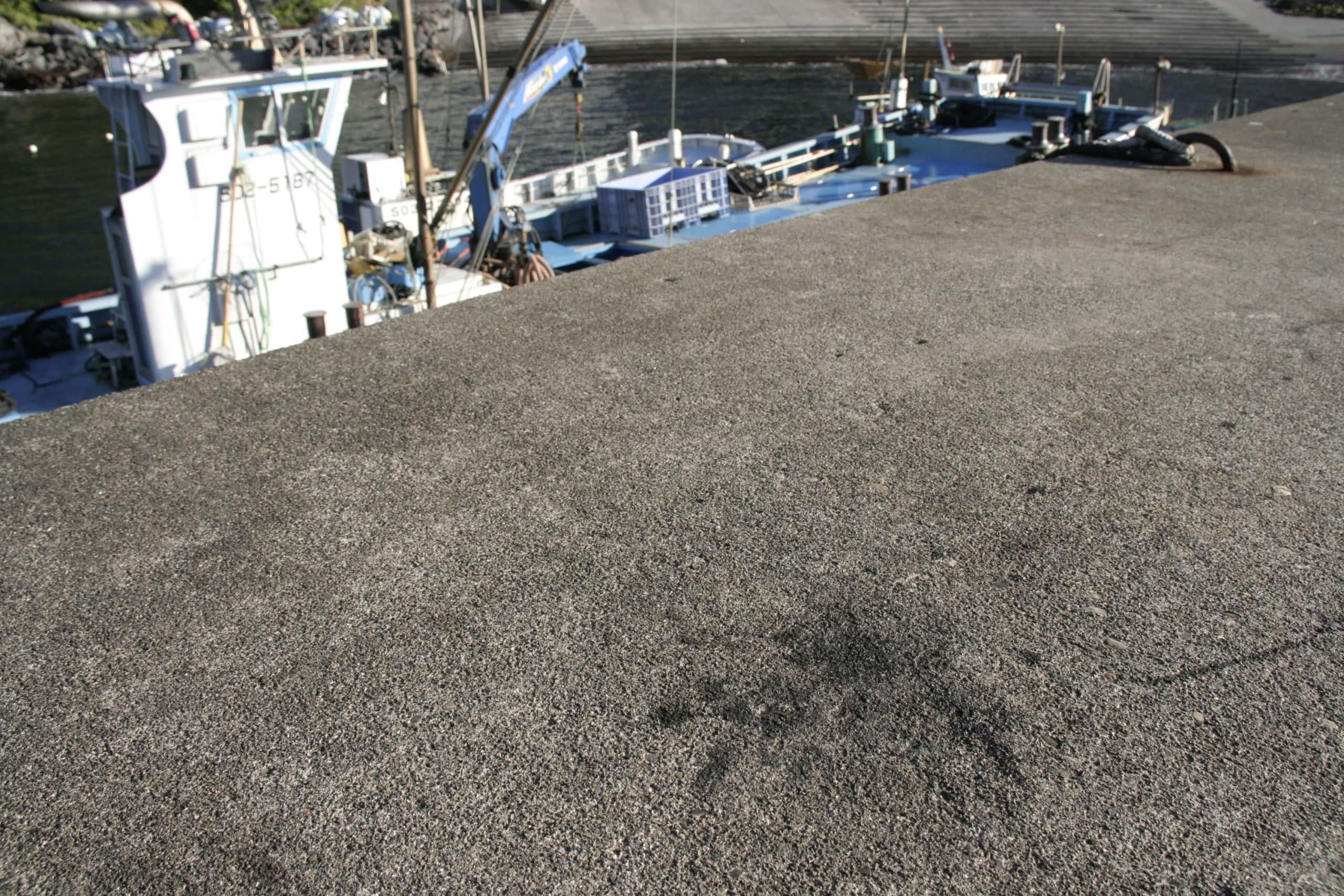 堤防の墨跡